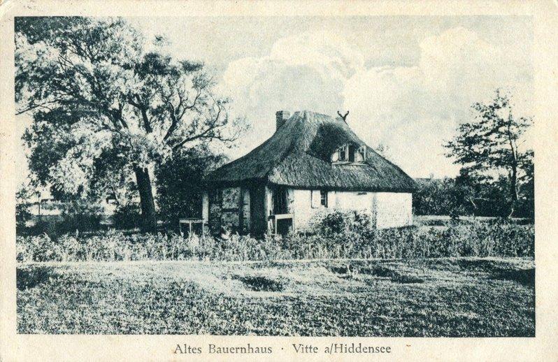 Postkarte Bauernhaus um 1925